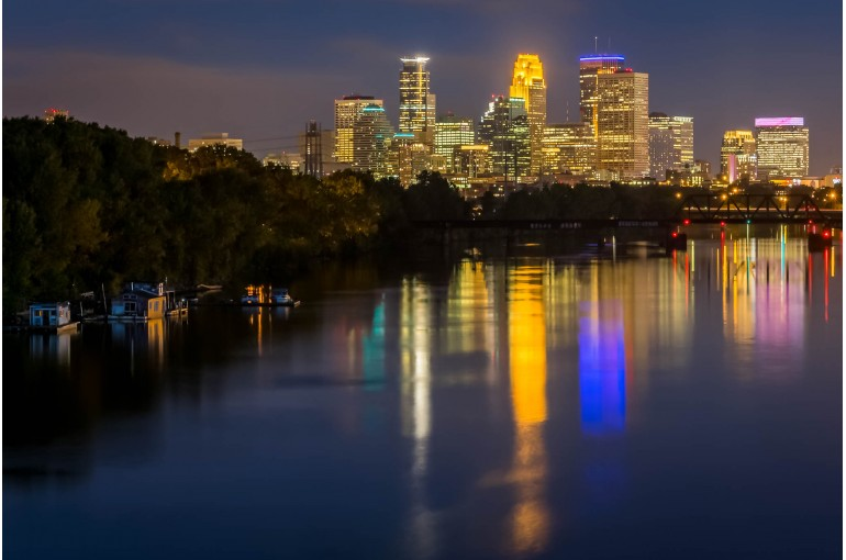 Minneapolis Night On The River