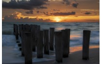 SUNSET AT THE PILINGS